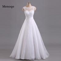 Menoqo 2018 Custom Made Formal Wedding Dresses Vestido De Noiva Casamento Organza Lace Robe De Mariage Bride Made In China
