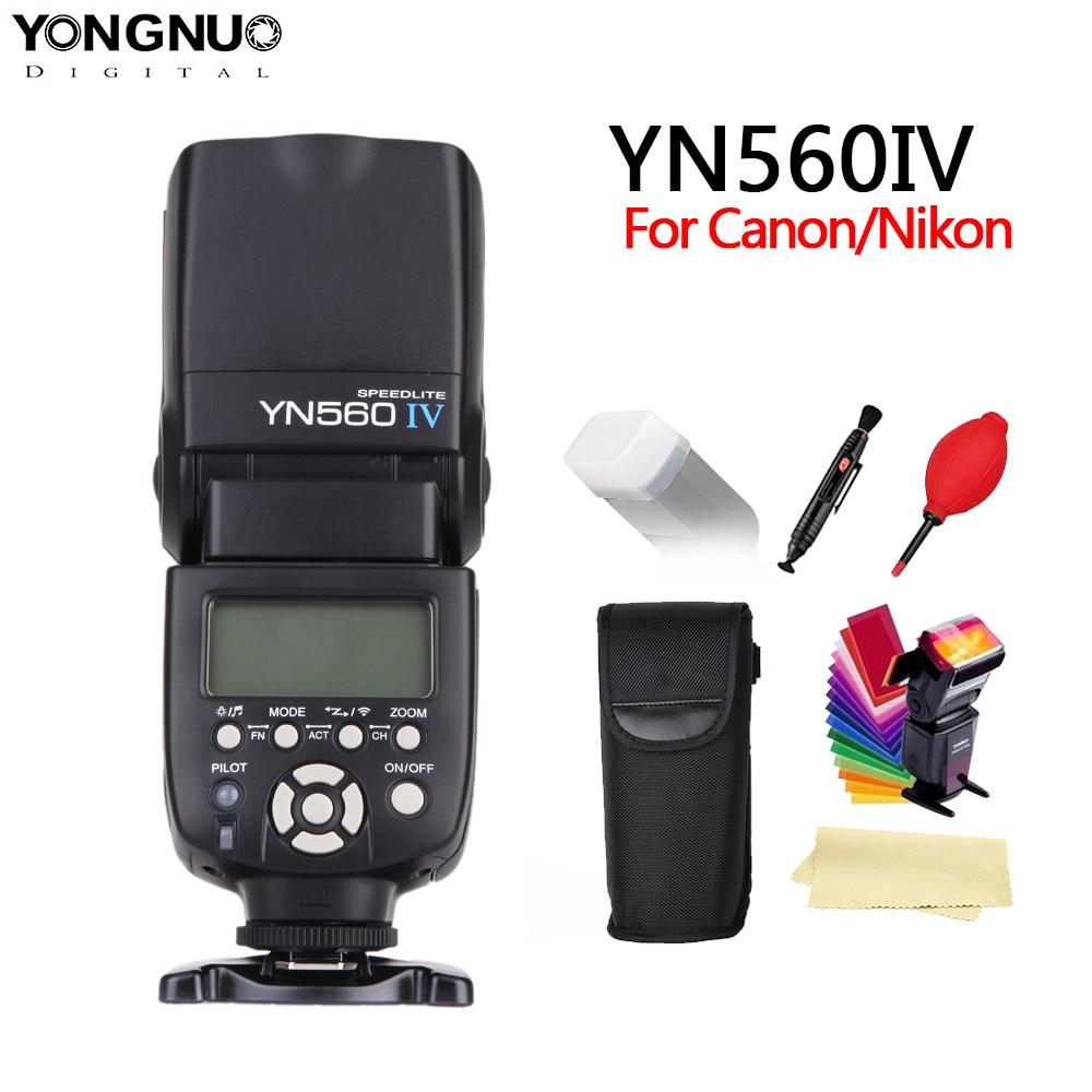 YONGNUO YN560 IV 2.4 ghz Wireless Flash Speedlite Ricetrasmettitore Integrato per Canon Nikon Panasonic Pentax Macchina Fotografica