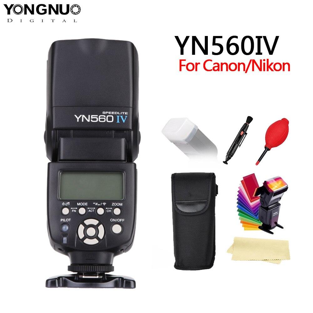 YONGNUO YN560 IV YN560IV inalámbrico de 2,4 GHZ Flash Speedlite transceptor integrado para Canon Nikon Olympus Pentax Sony Cámara