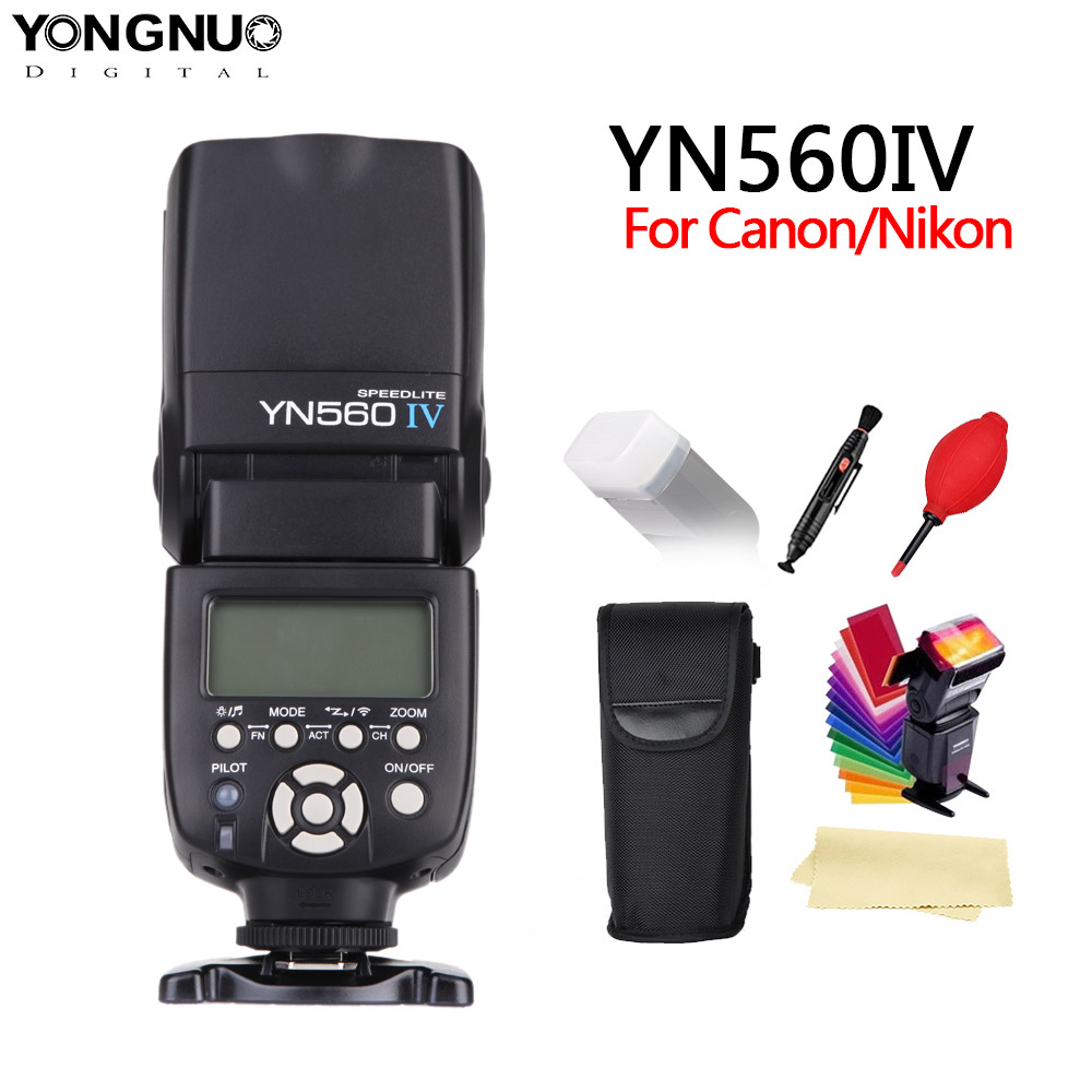 YONGNUO YN560 IV inalámbrico de 2,4 GHZ Flash Speedlite transceptor integrado para Canon Nikon Panasonic Cámara Pentax