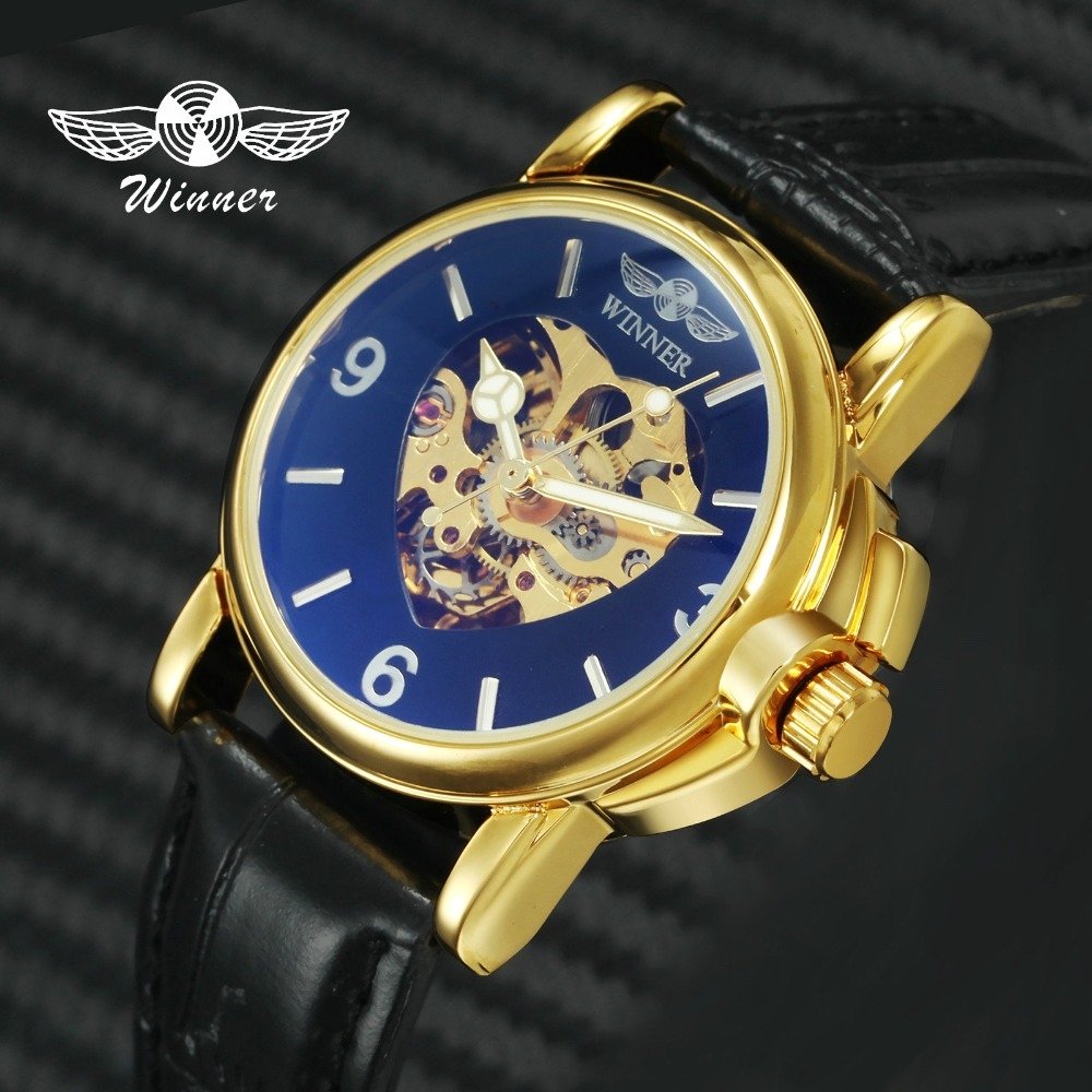 WINNER Top Brand Luxury Royal Casual Women Watches Fashion Automatic Mechanical Watch Heart Golden Skeleton Dial WristwatchesWINNER Top Brand Luxury Royal Casual Women Watches Fashion Automatic Mechanical Watch Heart Golden Skeleton Dial Wristwatches