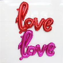 2pcs Ligatures LOVE Letter Foil Balloon Anniversary Wedding Valentines Party Decoration Balloon Love Balloon For Marrage