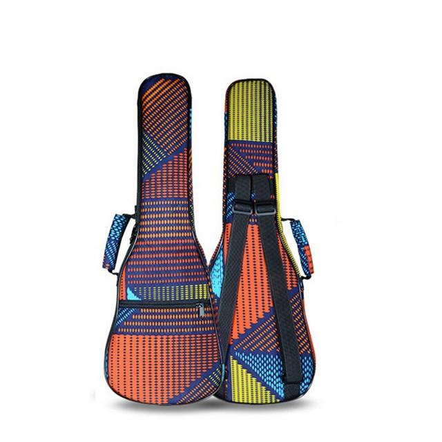 Striped Thickened Ukulele Bag