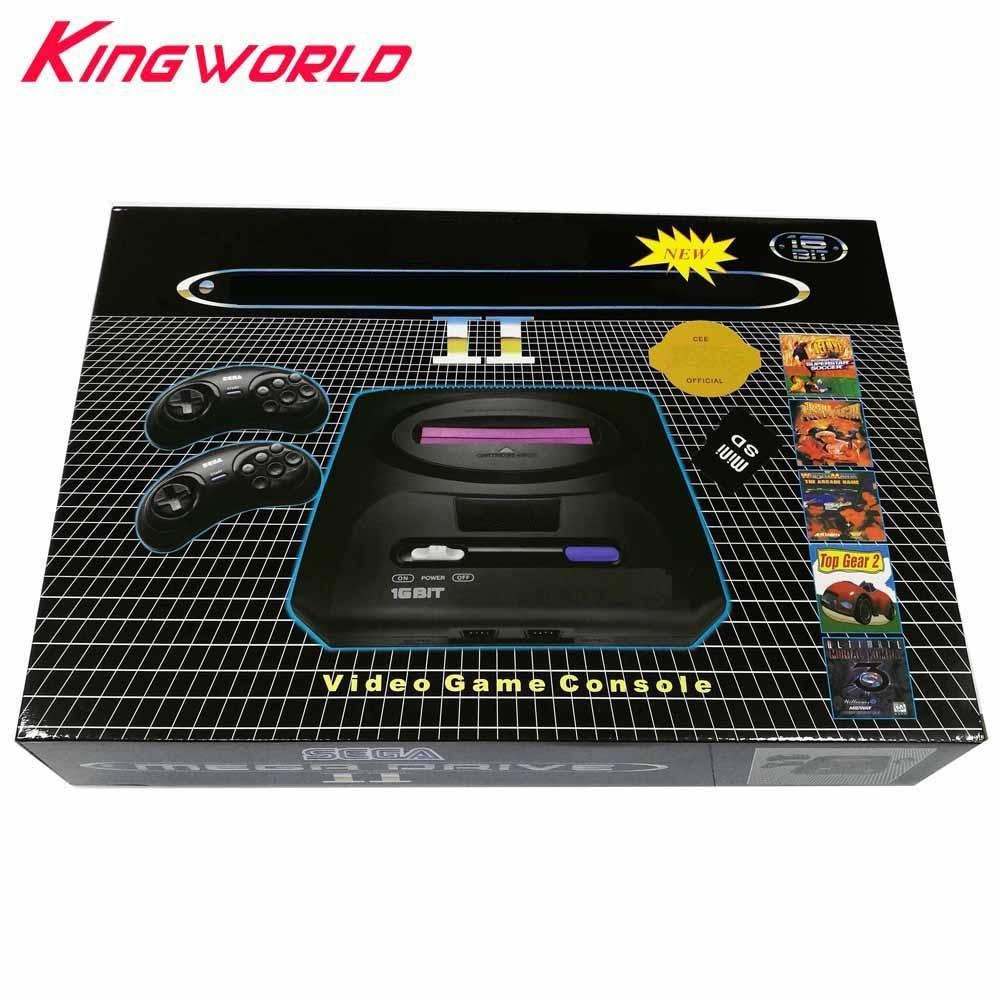 US plug PAL Version bulit in 9 games Support Mini SD Card download game cartridge 16 bit console for SEGA Genesis M-D 2 TV Video