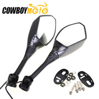 Carbon Fiber Motorcycle LED Turn Signals Rear View Mirrors For Honda CBR600RR 2003 2014 2010 2009 CBR1000RR 2004 2005 2006 2007