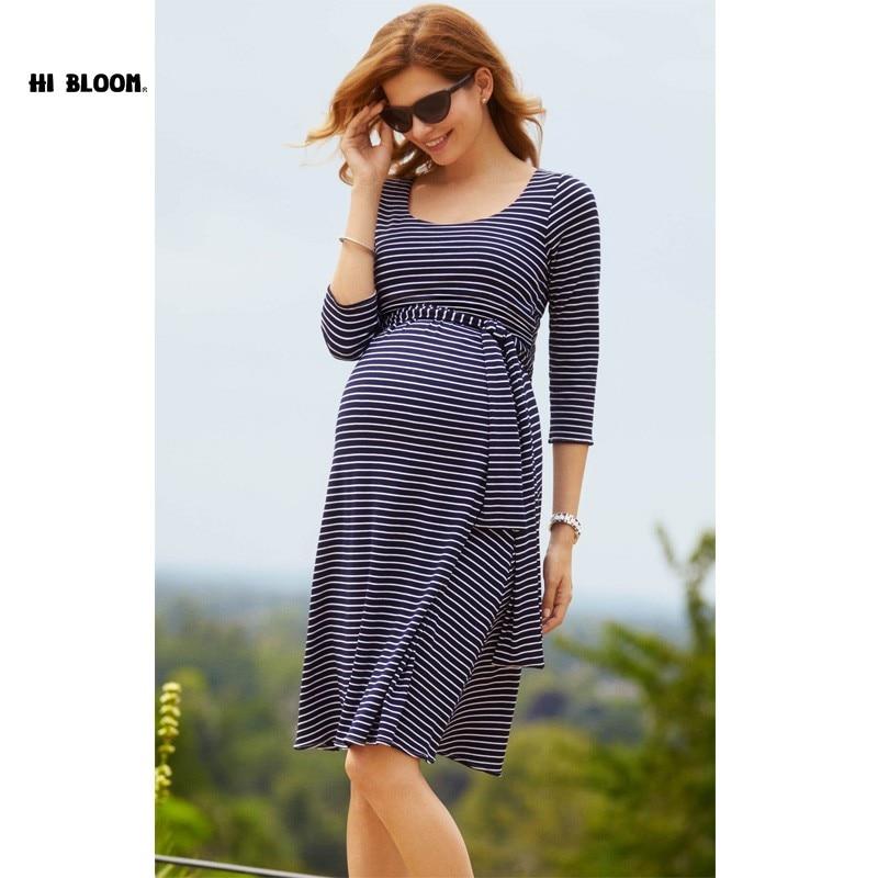 Easter Knee Length Maternity Dress Sashes Elegant Evening Gown for Pregnant Women Office Lady Vestidos Maternity