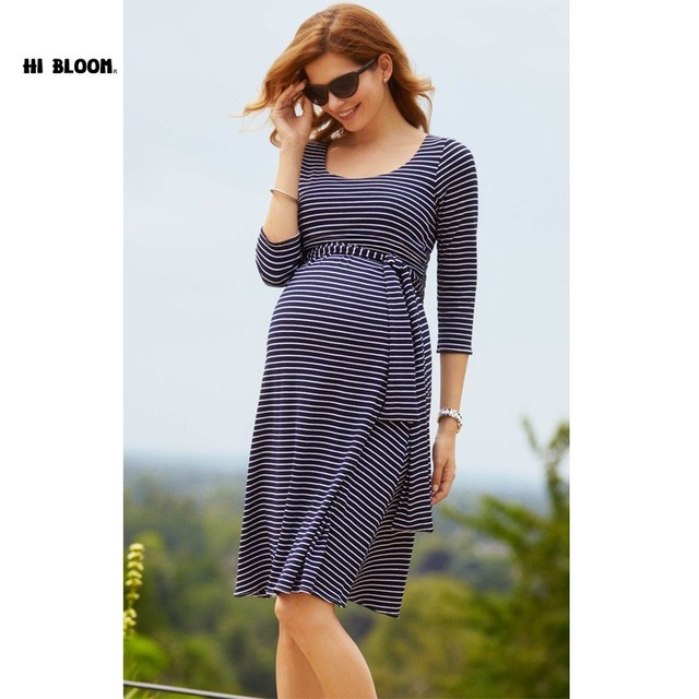 Páscoa do joelho-comprimento maternidade dress + caixilhos elegante senhora do escritório vestidos vestido de noite para as mulheres grávidas roupas de maternidade s-xxxl