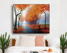 Autumn Scenery Famous Canvas Painting Calligraphy Poster and Prints Living Room House Wall Decor Art Home Decoration Picture black and white art canvas painting calligraphy poster and prints living room house wall decor art home decoration picture