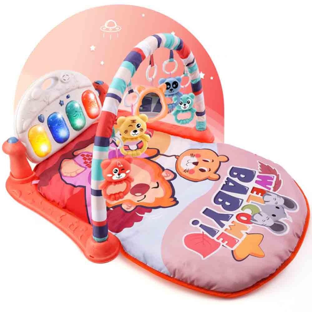 Головоломка успокоить раннее образование новорожденный 0-1 ребенок 3-6-12 месяцев ребенок коврик для ребенка ног фортепиано фитнес-рамка игру...