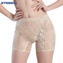 90e94ada8 High Waist Butt Hip Enhancer Booster Pads Padded Panties Undies Sexy Floral  Lace Shaping Panties(