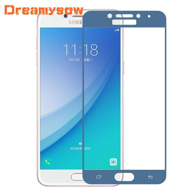 9 H Coloful полное покрытие Экран протектор Плёнки для Samsung Galaxy A5 <font><b>A7</b></font> A3 2017 закаленное Стекло Капа для a520 a720 a520f a320f a720f