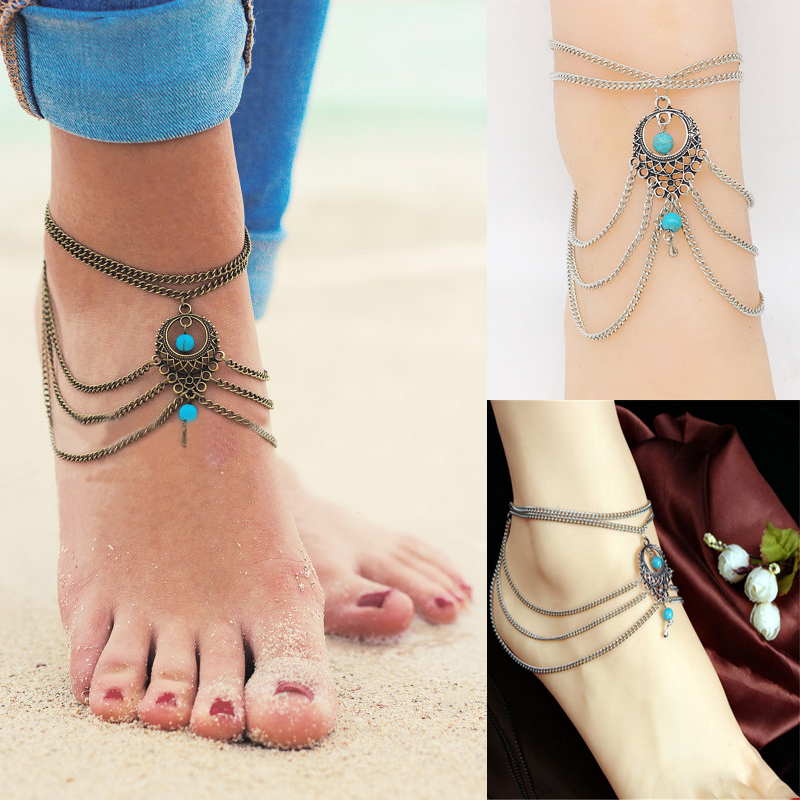 women tattoo anklet men ladies exclusive chains and pin ankle for bracelet