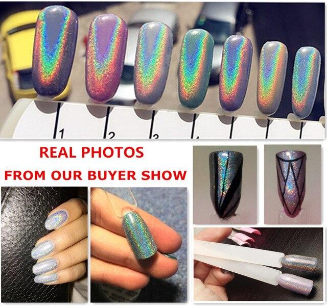 1g espejo polvo NAILS polvo holográfico cromo uñas polvo uñas ...