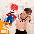 """19 """"50 см Супер Марио Луиджи Плюшевые Игрушки Super Mario Bros стенд Плюшевые Игрушки Мягкие Куклы Для Детей подарок на день рождения бесплатно доставка"""