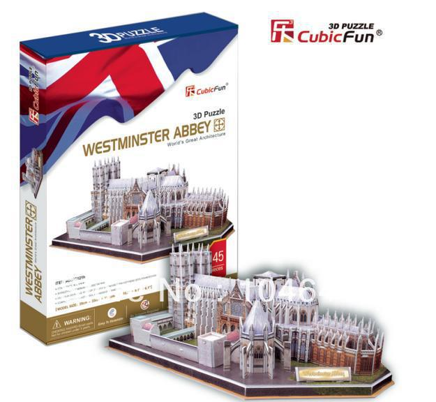 Westminster Abbey CubicFun 3D educational puzzle Paper & EPS Model Papercraft Home Adornment for christmas birthday gift wat phra kaew cubicfun 3d educational puzzle paper