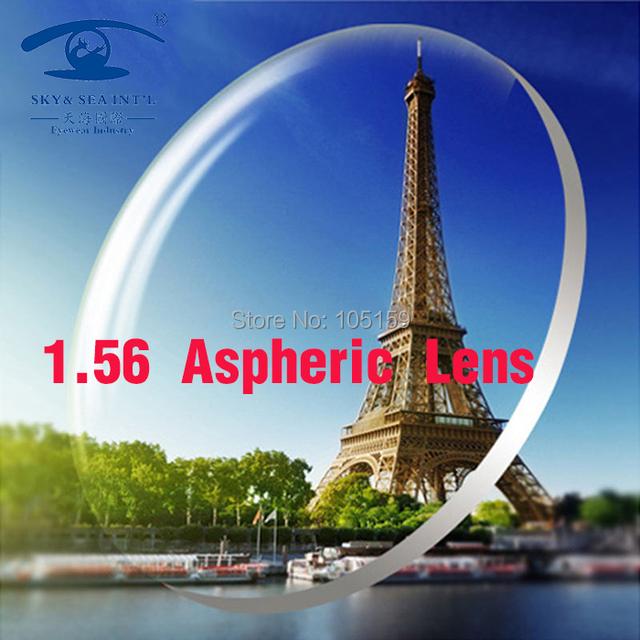 SKY & SEA Lentes Personalizadas para Os Olhos 1.56 Index Asférica CR39 Lente ÓPTICA Prescrição Miopia Lentes de Vidro Personalizado