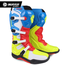 SCOYCO Off-road Long Racing gear Boots Motocross Motorbike Riding Long Knee High Shoes Heavy Protective Gear boots MBM003
