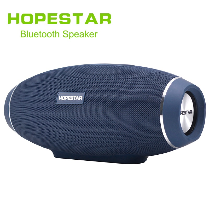 HOPESTAR H20 Wireless portable Bluetooth Speaker Rugby Outdoor Bass Effect with mic Power charge Bank For Mobile TV PC zealot s1 bluetooth speaker outdoor bicycle portable subwoofer bass wireless speakers power bank led light bike mount carabiner