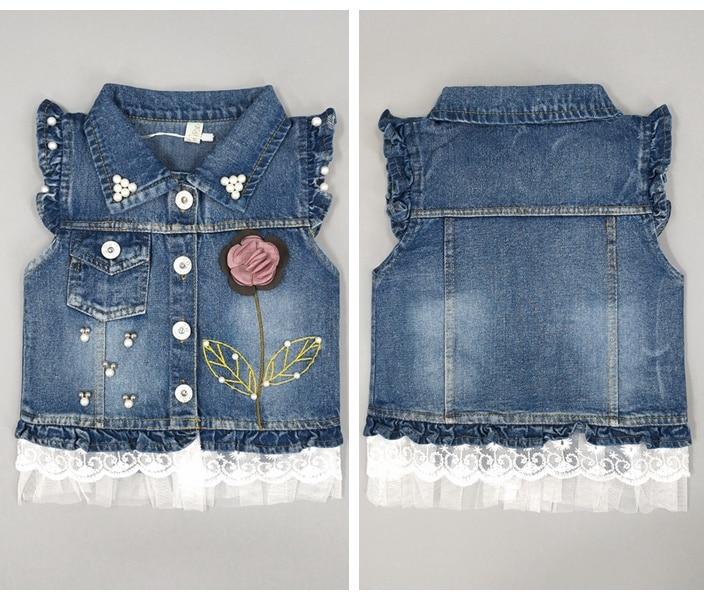 033ffd56f Dropwow 1-5T Baby Jeans Vest Babe Jeans Jacket Denim Outerwear ...