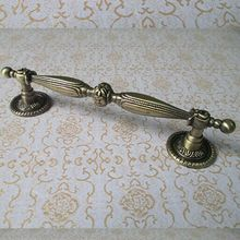 128mm telephone handle antique brass wardrobe kitchen cabinet door pull handle 5 bronze dresser cupboard furniture