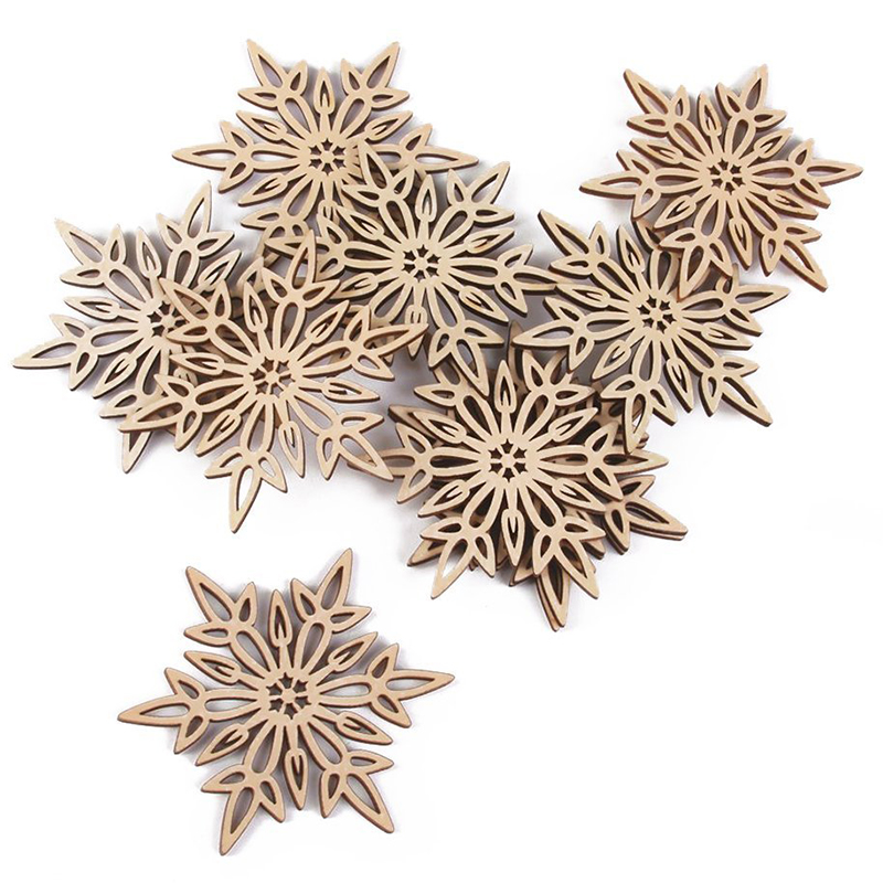 Hollow Snowflake Supplement The Vital Energy And Nourish Yin Nhbr-10x Christmas Ornaments Wood Hanging Hollow Xmas Decorations Wood Color With Hemp Ropes