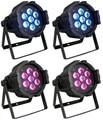 4 xLOT Free доставка 7X10 W 4in1 RGBW каче цвета Led Par свет Мини Сценического Освещения Высокой Мощности С DMX512 DJ Оборудование контроллер