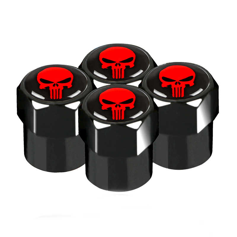 Skull Mastermind Japan Badge Car Decoration Wheel Tire Valve Cap Accessories for bmw lada audi skoda mazda toyota car styling
