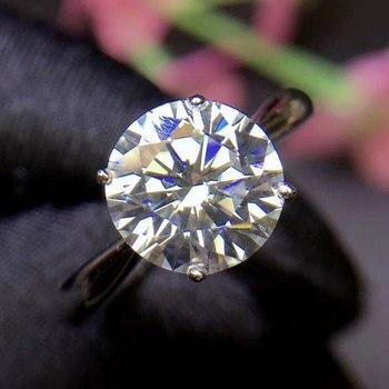 4c1a2c39372f CoLife joyería VVS de Moissanite anillo de compromiso 8mm redondo corte  Moissanite anillo sólido 925 anillo