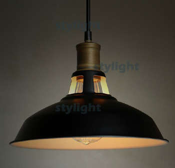 metal shade pendant loft lamp Northern Europe style edison chandelier filament bulb suspension lighting dinning room foyer light