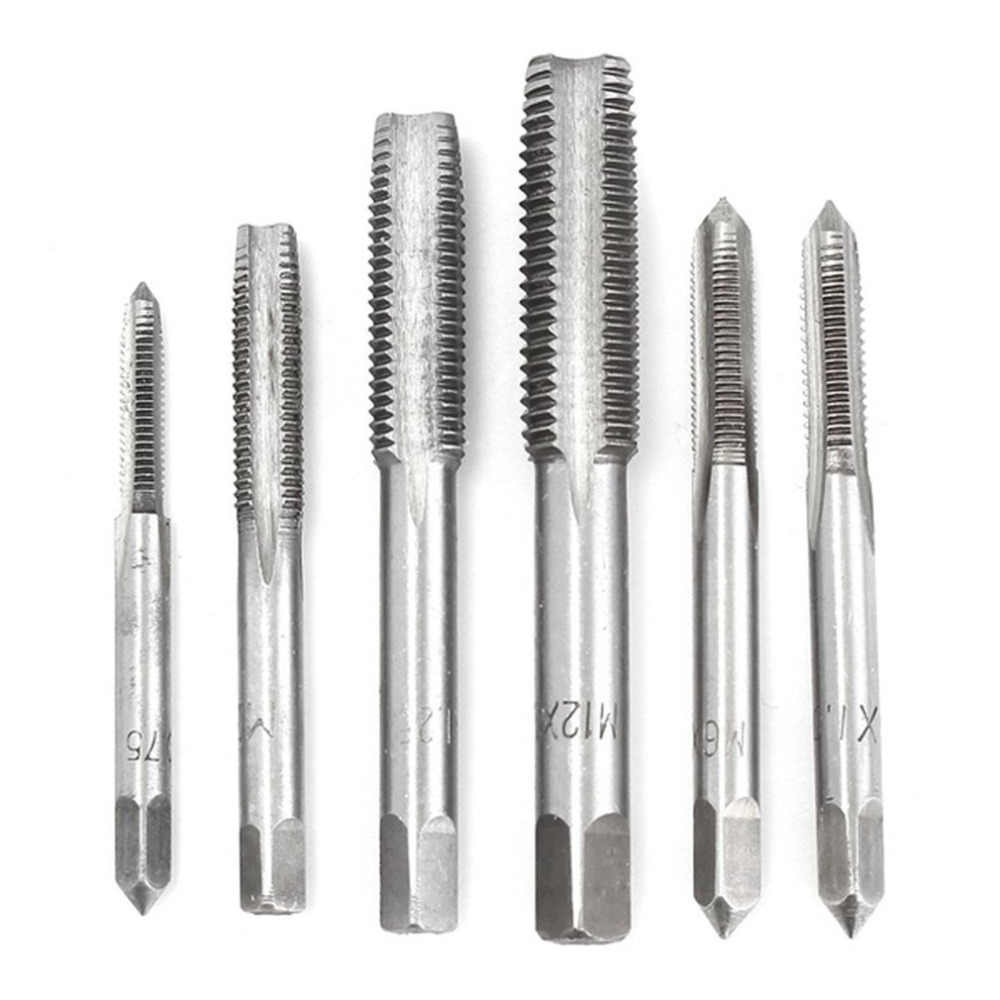40pcs/set tap die set M3-M12 Screw Thread Metric Taps wrench Dies wrench screw Threading hand Tools Alloy Metal with bag Quality