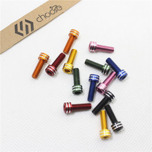 CHOOSE Mtb Bike Cage Bolts M5*15 mm Aluminum 7075 CNC Bicycle Water Bottle Holder Bolts For Carbon Cage Screws 2 Piece / lot 8pcs steel bicycle stem screws water bottle holder bolts socket screws m5 m7