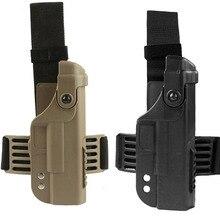 Кобура для пистолета Glock 17 18 19 22, тактическая кобура в стиле милитари, с прямыми штанинами, для Glock 17, 18, 19, 22
