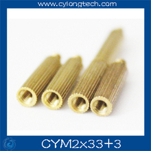 Free shipping M2*33+3mm  cctv camera isolation column 100pcs/lot Monitoring Copper Cylinder Round Screw