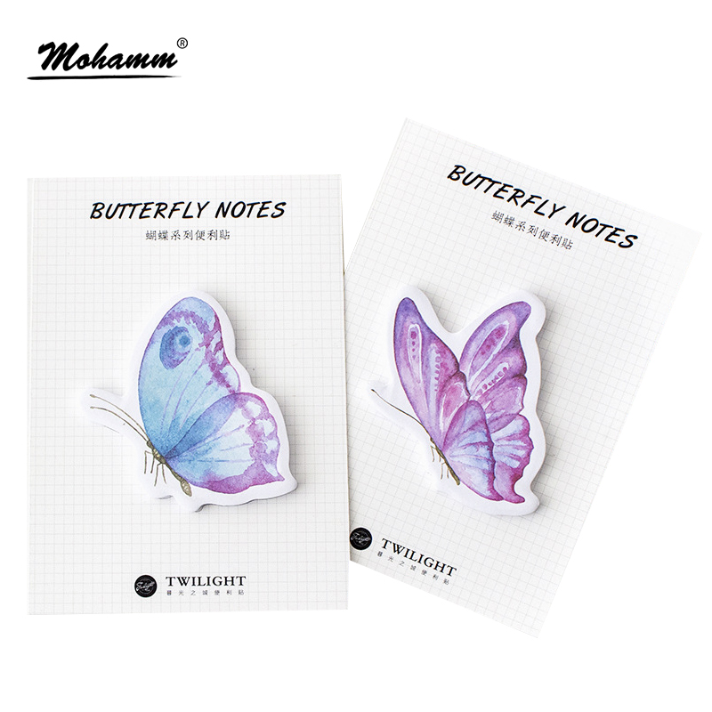 30sheets Creative Colorful Butterfly Paper Sticky Notes Post It Memo Pad Stationery Stickers Office Accessory School Supplies 1000 label self adhesive sticky a4 sheets address labels inkjet laser copier printer ebay amazon sticky address post pack paper