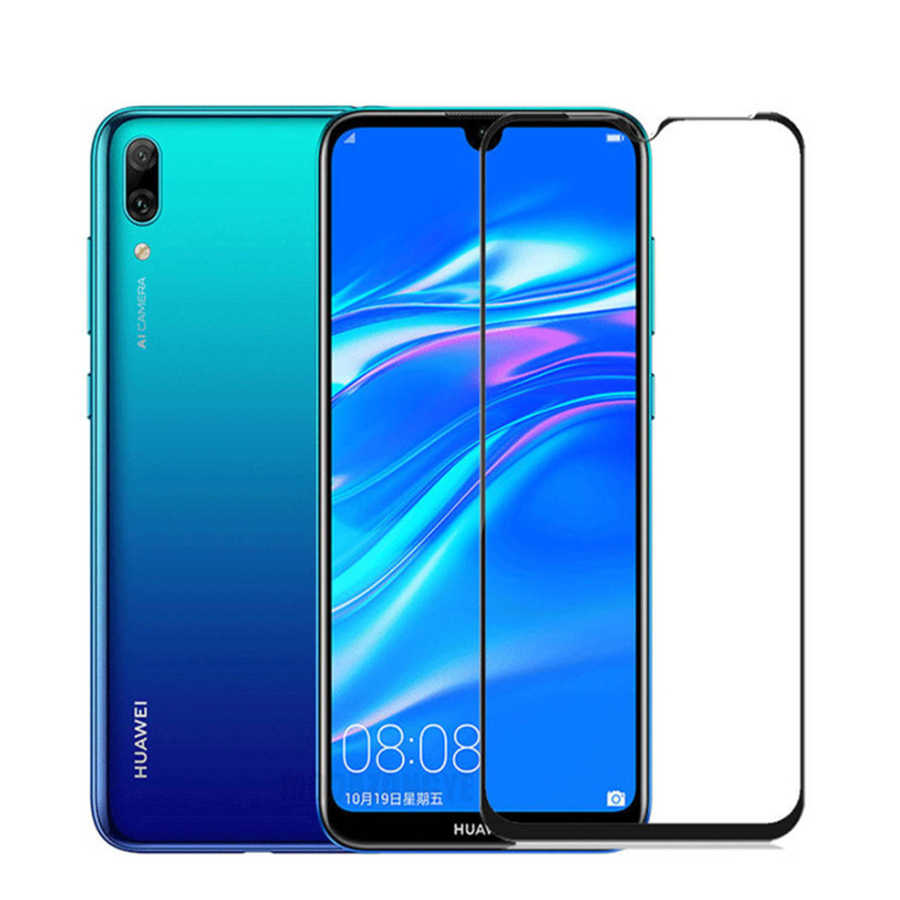 Full Cover  Glass For Huawei Y7 2019 DUB-LX1 Screen Protector On Y7 Pro 2019 enjoy 9 Protective Glass y 7 7y pro film 9h