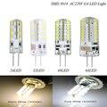 1 Pcs LED G4 AC12V Lâmpada DC 12 V/AC 220 V 110 V SMD3014 3 W 6 W 9 W 12 W Substituir 30 W/60 W Lâmpada Halógena de 360 Ângulo de Feixe LED Lampada lâmpada