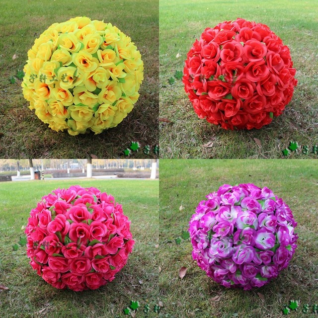 30 cm12 new artificial encryption rose silk flower kissing balls 30 cm12 new artificial encryption rose silk flower kissing balls hanging ball christmas mightylinksfo Choice Image