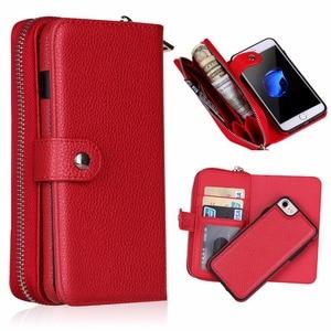 Image 4 - Новинка для iPhone X 8 7 6 6S 8 Plus кошелек сумка полиуретановая на молнии кошелек чехол для Samsung galaxy S8 Plus S7 S6 Edge S5 Note 8 Сумочка чехол