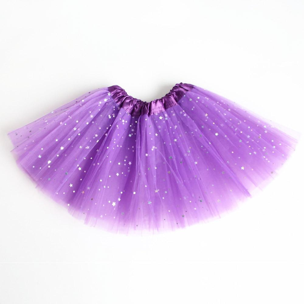 New Girls Pink Sparkle Sequin Ballet Dance Tutu 3 Layers