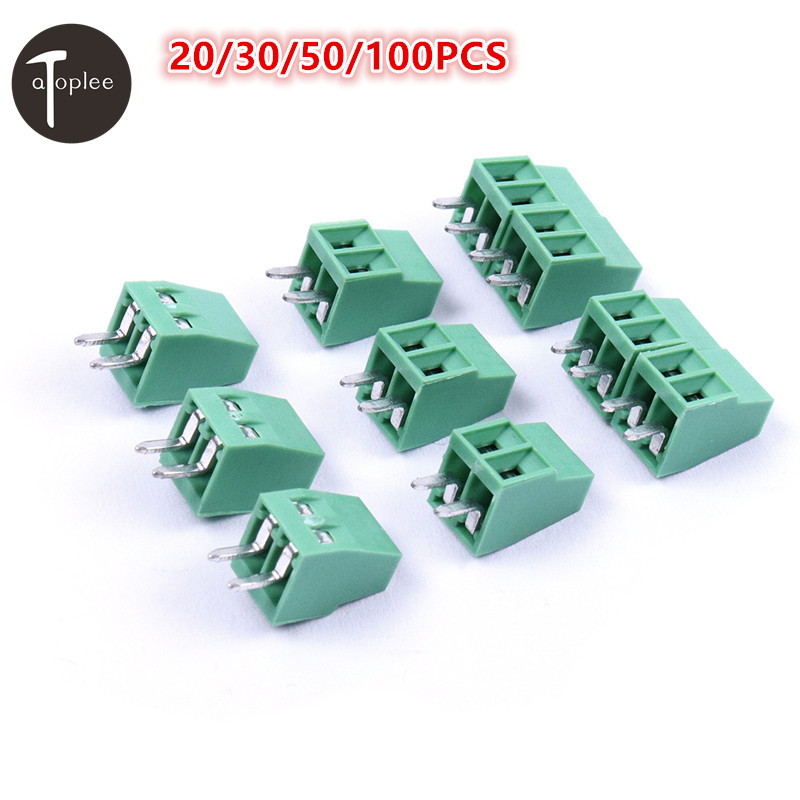 Hot 20/30/50/100pcs 2 Poles/2Pin 2.54mm PCB Universal Screw Terminal Block Connector Free Shipping 20078 2 pin pcb screw terminal block connectors green 15 piece pack