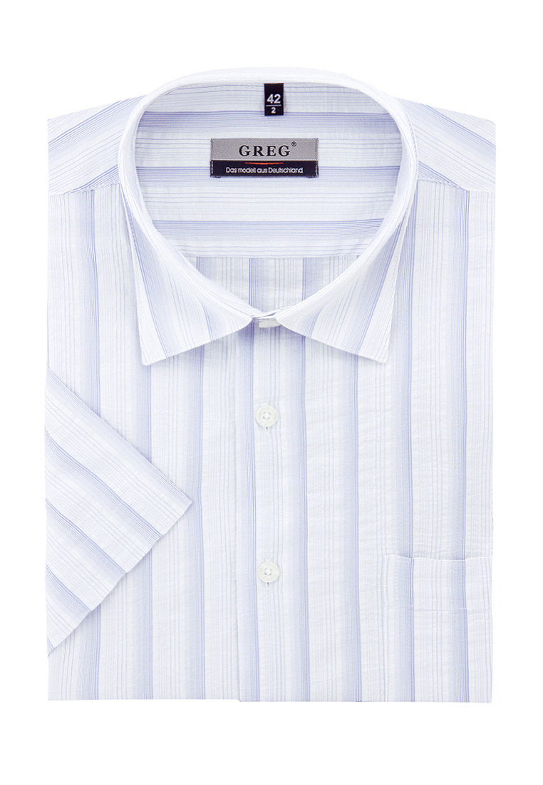 Shirt men's short sleeve GREG Gb121/309/03 White