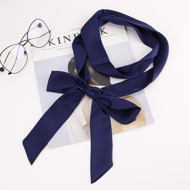 Women Fashion Neckerchief Smooth Wrist Headband Lady Neck Head Long Thin Ribbon Skinny   Scarf     Wrap   2019 Spring Summer Trendy cute