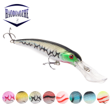 Купить с кэшбэком Minnow Fishing Lure 16.5cm 26g 3D Eyes Isca Artificial Baits Lifelike Swimbait Crankbait Long Lips Wobblers Bass Fishing Tackle