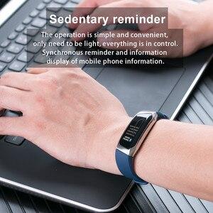 Image 3 - AMYNIKEER E18 חכם צמיד קצב לב צג גשש כושר IP67 עמיד למים ספורט שעון עבור אנדרואיד ו IOS חכם שעון גברים