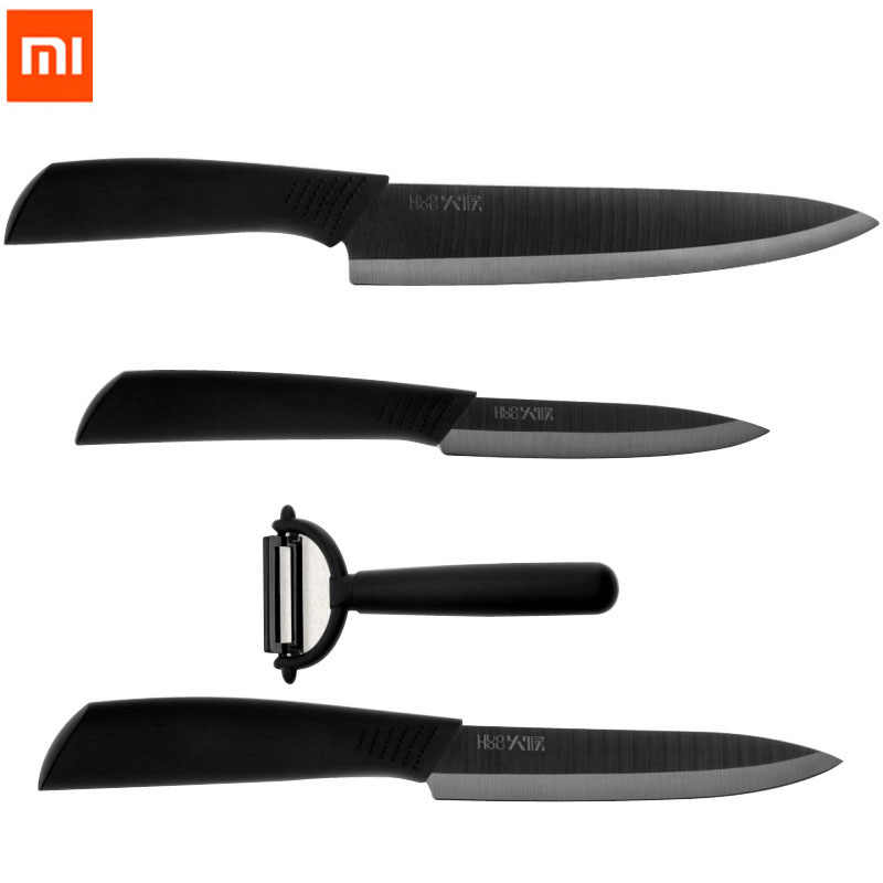 4pcs Original Xiaomi Huohou Kitchen Knife Nano-Ceramic Knives Cook Set 4 6 8 Inch Furnace Thinner Kits For Family Kitchen E15