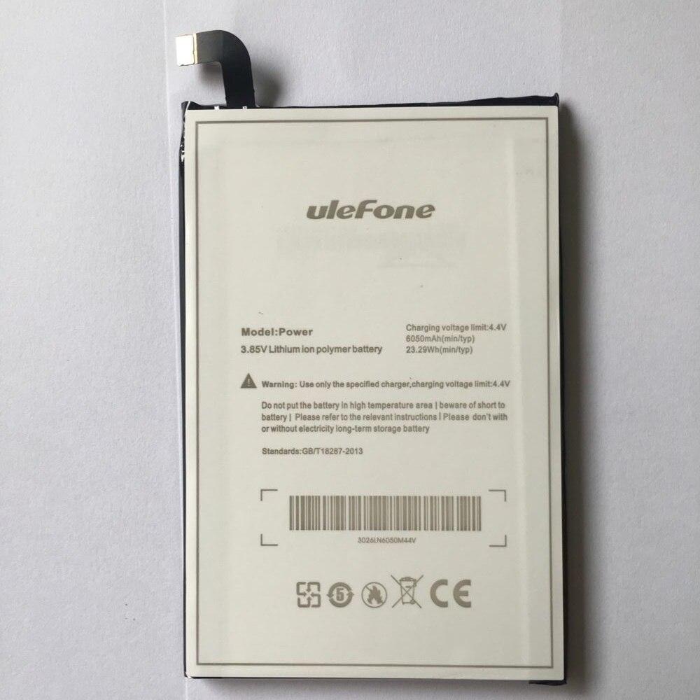 Ulefone power Batterie Ersatz 6050 mAh Große Kapazität Li-Ion Unterstützungsbatterie Für ulefone power Smartphone