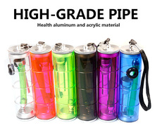 Smoking Pipe Transparent Mini Hookah Water Pipe Plastic Multicolor Small Pipe Tobacco Holder Filter Drop Shipping Random Color