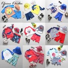 UPF50 + traje de baño para bebé, 3 piezas con gorro, protección contra sarpullido para niños, traje de baño de manga larga, ropa de baño para niños