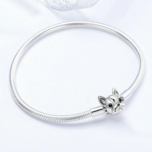 Image 2 - 100% 925 Sterling Silver Dog Head Clasp Charm Bracelet Hot Sale Innovative Lovely Fashion Jewelry Gift For Women Girlfriend