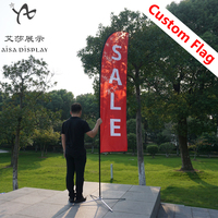 Free shipping wholesale custom feather flag and flag pole with base outdoor advertising flag banners cheap promotion beach flag